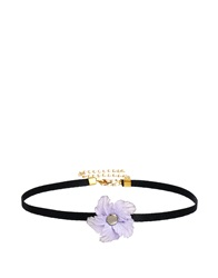 Gogo Philip Purple Flower Choker Necklace