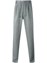Brunello Cucinelli Pleated Tapered Trousers Grey