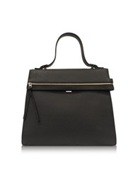 Victoria Beckham Topaz Black Embossed Grained Leather Handbag