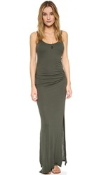 Three Dots Rosina Shirred Maxi Dress Sweet Fern