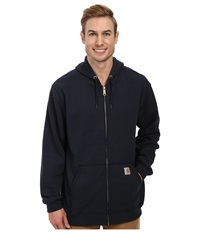 Carhartt Mw Hooded Zip Front Sweatshirt New Navy Men's Sweatshirt