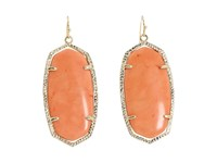 Kendra Scott Danielle Earrings Gold Coral Earring Orange