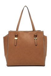 London Fog Everton Faux Leather Tote Beige