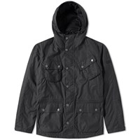 Barbour International V Tech Wax Jacket Black