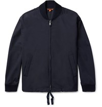 Barena Woven Bomber Jacket Midnight Blue
