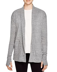 Alternative Apparel Alternative Ribbed Sleeve Open Cardigan Eco Grey