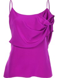 Cushnie Et Ochs Ruffle Detail Top Pink And Purple
