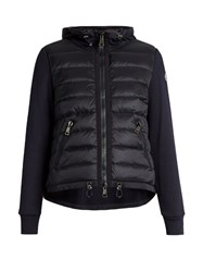 Moncler Quilted Front Hooded Sweatshirt Navy