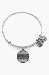 'Nfl Cleveland Browns' Adjustable Wire Bangle Russian Silver