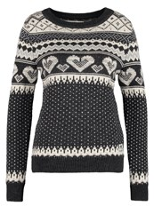 Superdry Fairisle Jumper Charcoal Anthracite