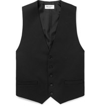 Saint Laurent Black Slim Fit Wool Waistcoat Black