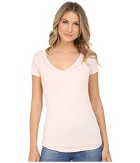 Lamade V Pocket Tee Tissue Jersey Shrimp Women's Short Sleeve Pullover Pink