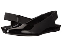 Kenneth Cole Reaction Step Sling Black Patent Women's Dress Flat Shoes