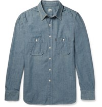 Chimala Washed Cotton Chambray Shirt Light Blue