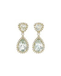 Signature Green Amethyst And Diamond Drop Earrings Kiki Mcdonough Purple