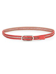Nine West Chain And Faux Leather Belt Red