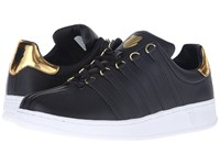 K Swiss Classic Vn Metal Black Metal Gold Leather Men's Tennis Shoes