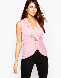 Tfnc Sleeveless Twist Front Blouse Duskypink