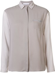 Fabiana Filippi Contrast Panel Shirt Nude And Neutrals