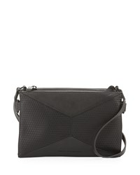 French Connection Shane Faux Leather Crossbody Bag Black