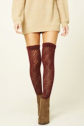Forever 21 Over The Knee Knit Socks