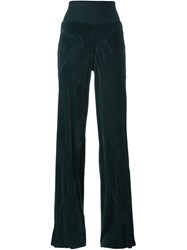 Rick Owens Velvet Trousers Green