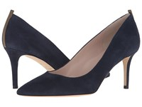 Sarah Jessica Parker Fawn 70Mm Navy Suede Women's Slip On Dress Shoes Blue