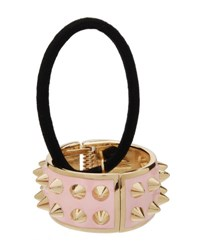 L. Erickson Spiked Enamel Ponytail Holder With Cuff Light Pink
