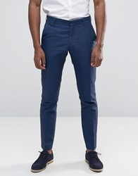 Selected Linen Trousers Navy