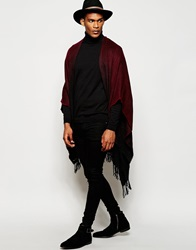Asos Burgundy Ombre Cape Red