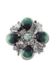 Chanel Vintage Floral Motifs Ring Metallic