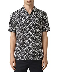 Allsaints Salix Short Sleeve Slim Fit Button Down Shirt Washed Black