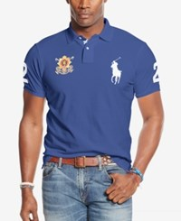 Polo Ralph Lauren Big And Tall Black Watch Polo Shirt Holiday Navy