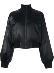 Dkny Satin Bomber Jacket Black