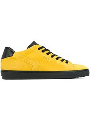 Leather Crown 'Skt' Sneakers Yellow And Orange