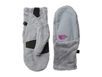The North Face Denali Thermal Mitt Mid Grey Luminous Pink Extreme Cold Weather Gloves Gray