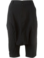 Comme Des Garcons Girl Drop Crotch Shorts Black