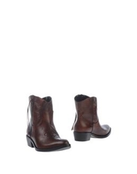 Emanuela Passeri Ankle Boots Cocoa