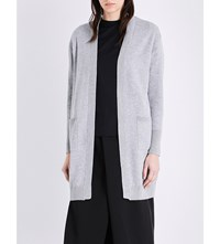 Izzue Longline Knitted Open Front Cardigan Grey