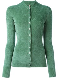 Antonio Marras Fitted Cardigan Green