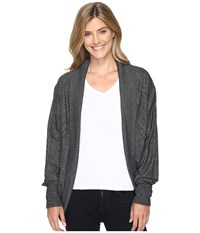 Exofficio Alanya Cocoon Wrap Charcoal Heather Women's Sweater Gray