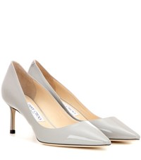 Jimmy Choo Romy 60 Patent Leather Pumps Grey