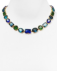 Abs By Allen Schwartz Multicolor Stone Collar Necklace 17 Blue Green Multi