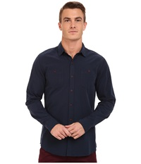 Mavi Jeans Double Pocket Shirt Total Eclipse Men's Clothing Navy