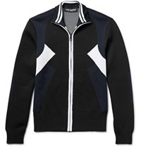Neil Barrett Jacquard Knit Track Jacket Idnight Blue Midnight Blue