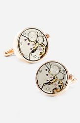 Ravi Ratan Penny Black 40 'Steampunk Watch Movement' Cuff Links Gold