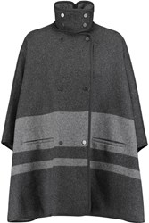 Vince Striped Wool Blend Cape Gray