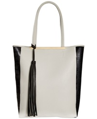Carlos By Carlos Santana Colbie North South Tote White Black