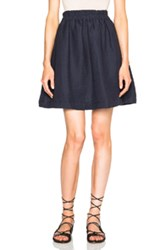 Apiece Apart Anasazi Short Skirt In Blue