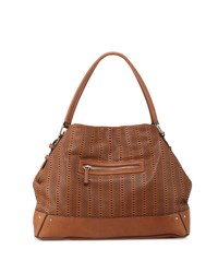 French Connection Rose Laser Cut Domed Tote Bag Nutmeg